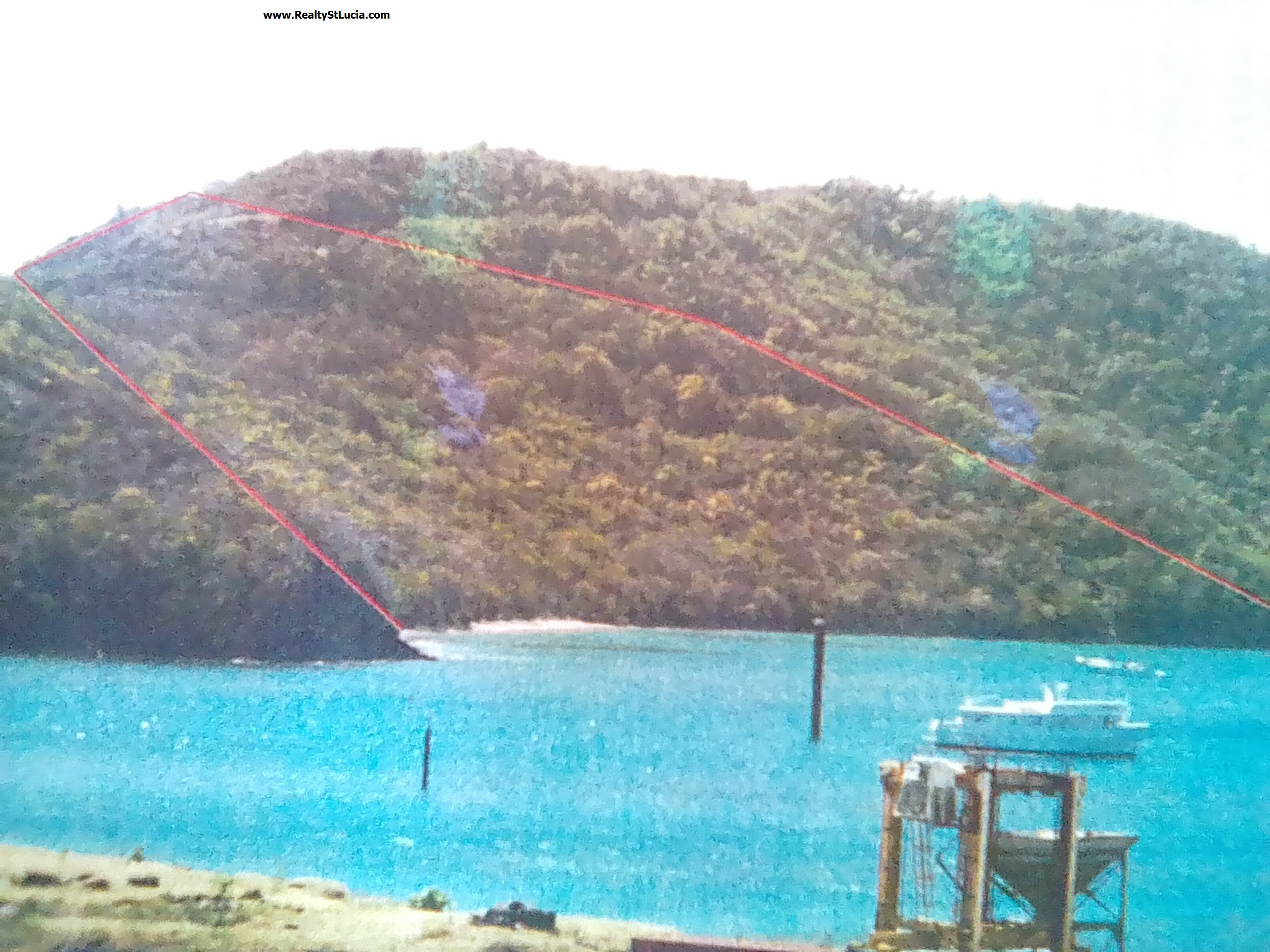 13 acres of land for sale at mou-la-chique vieux-fort st lucia