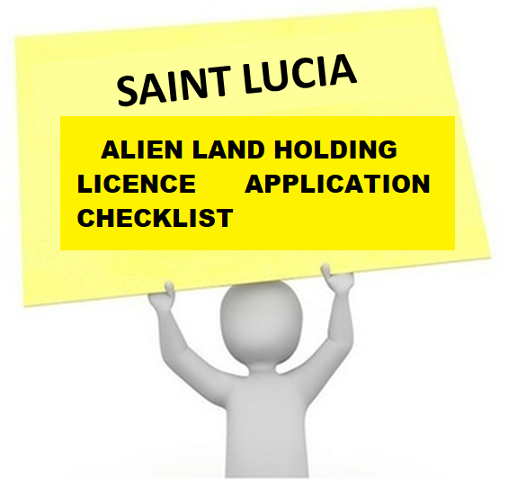 ALIEN'S LICENCE APPLICATION CHECKLIST
