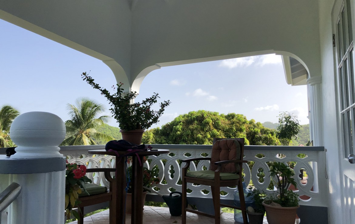patio of house for sale in vieux fort st lucia