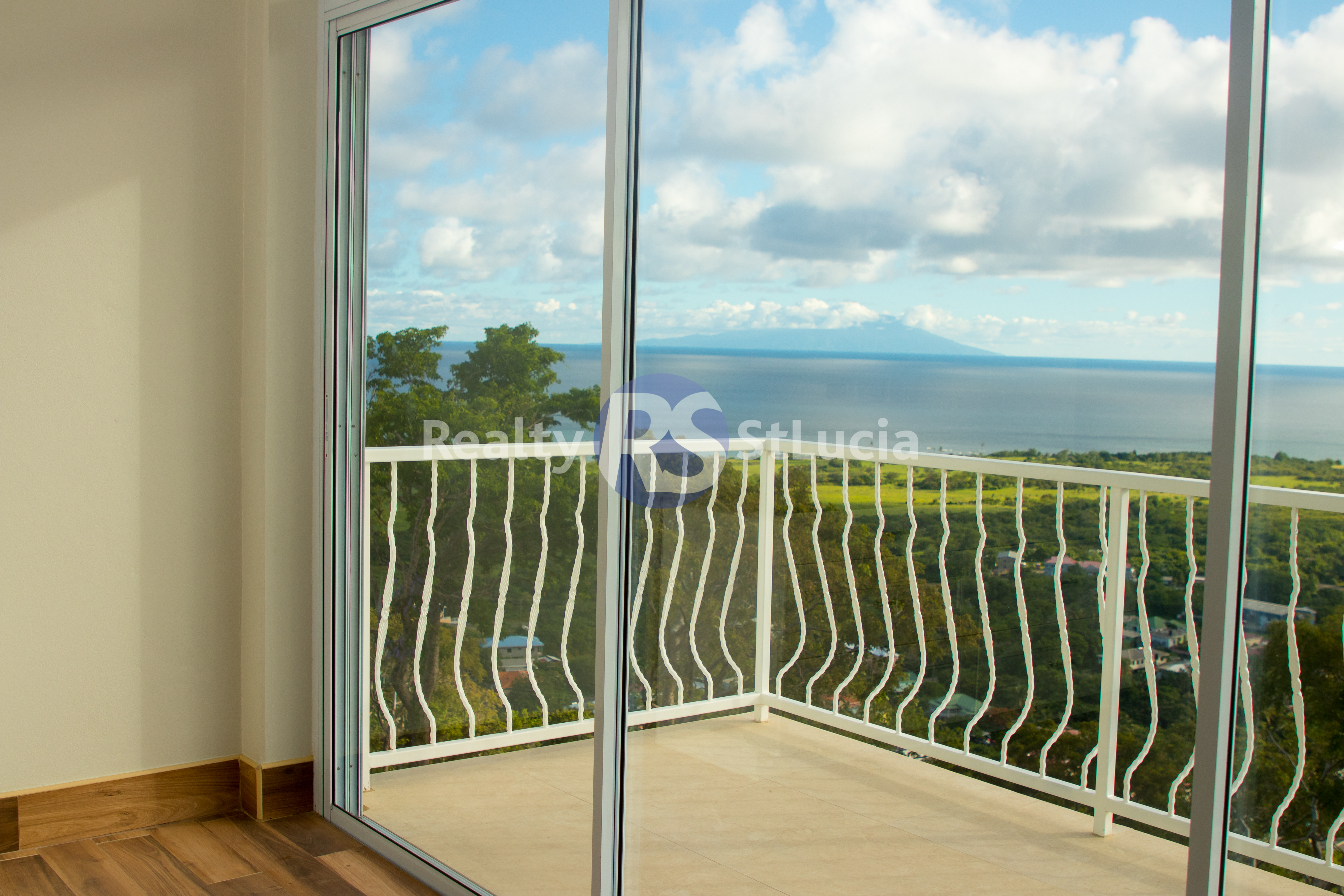 view of house for sale in st lucia