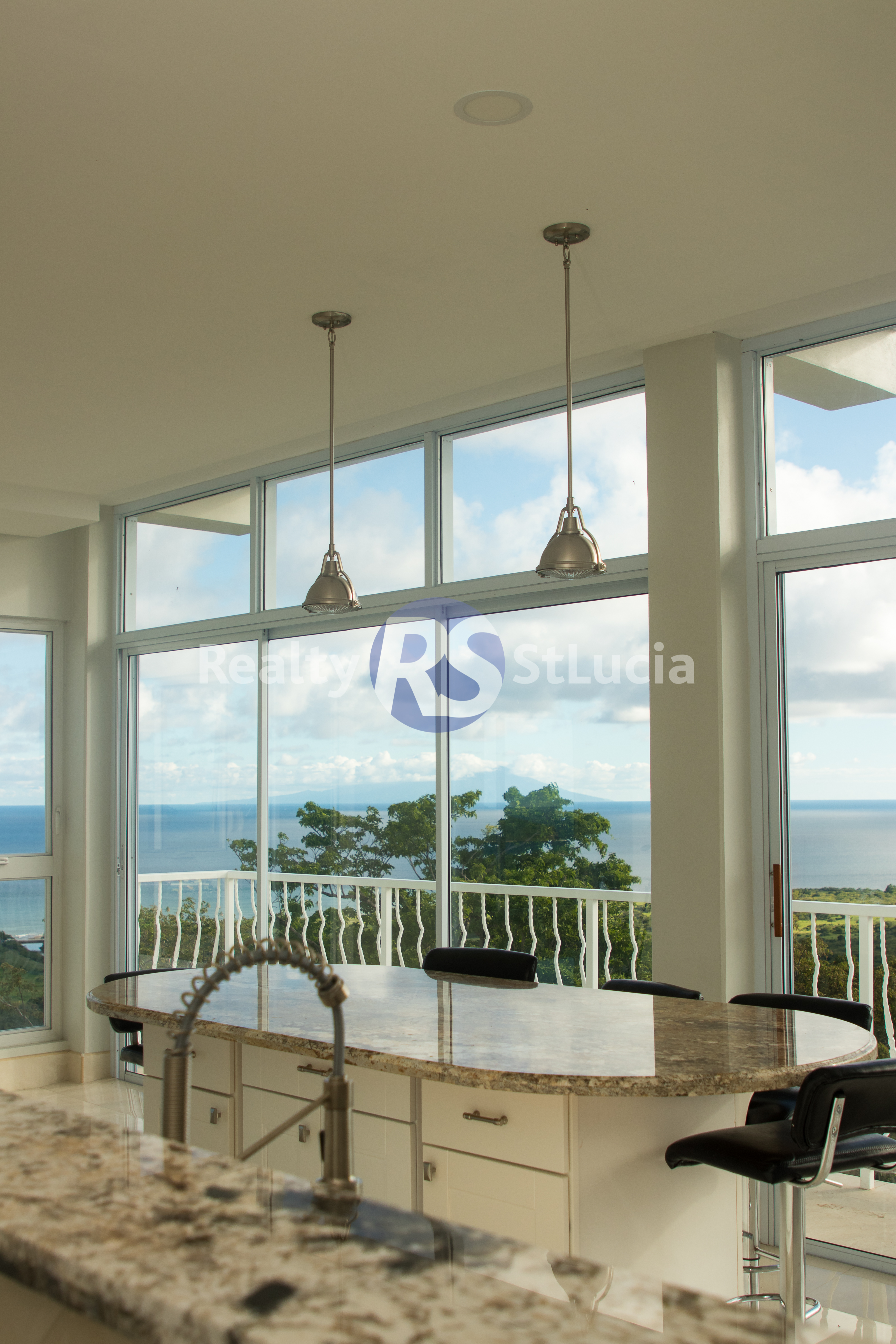 kitchen modern iin st lucia house for sale