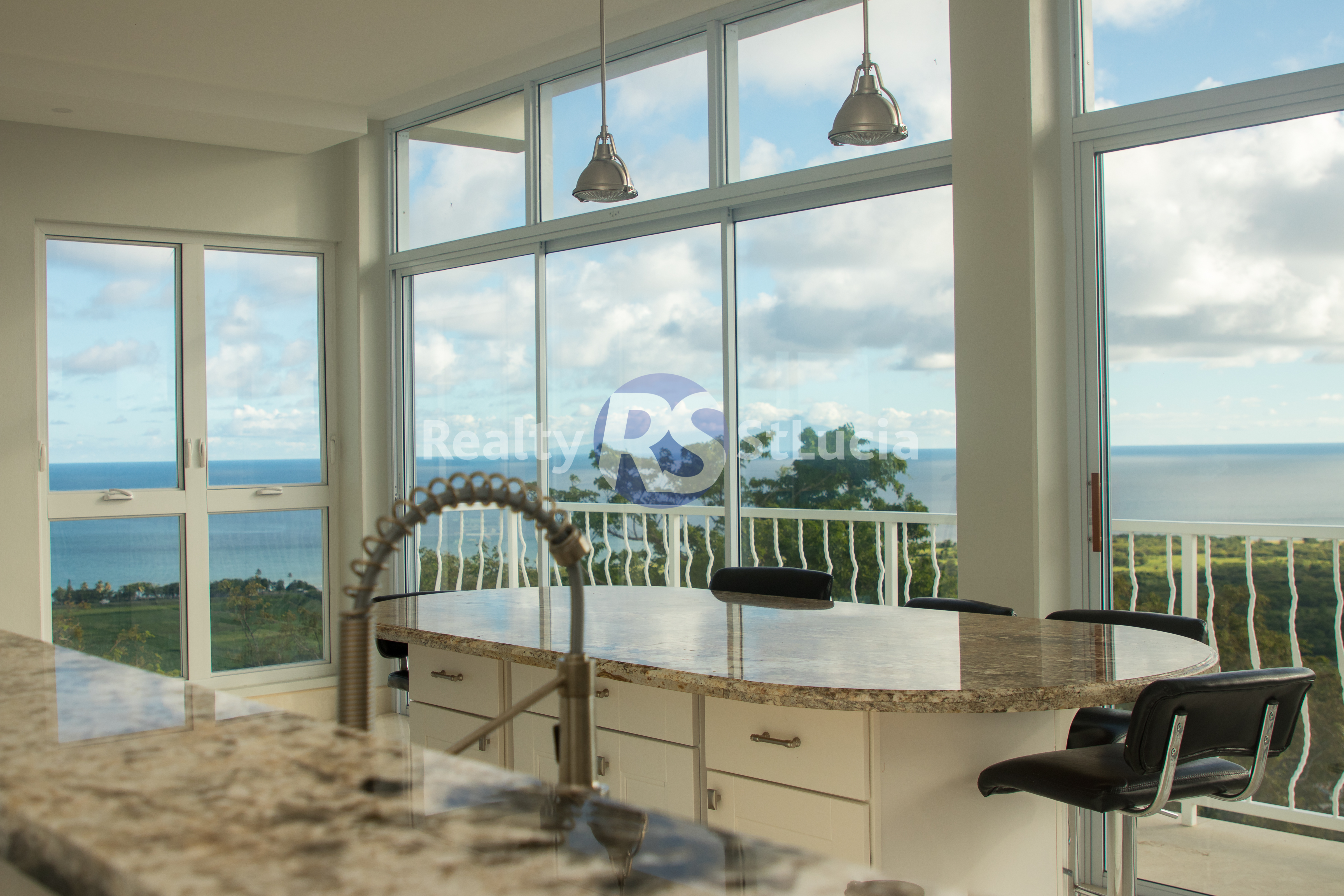 villaa for sale in vieux fort saint lucia near horse racing track
