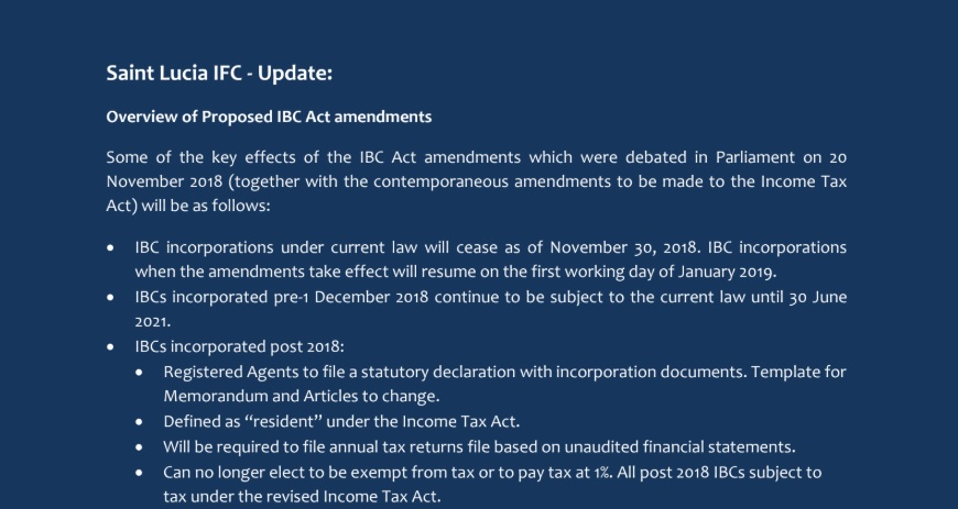 Overview of Proposed IBC Act amendments 2019