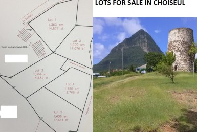 lots for sale in choiseul saint lucia