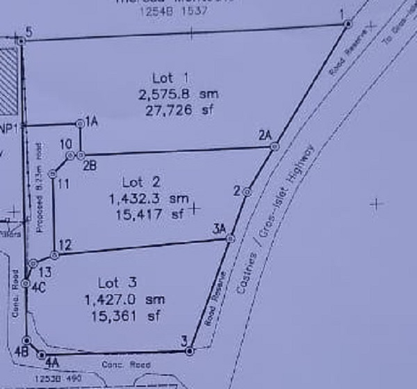 land for sale at bois dorange gros islet