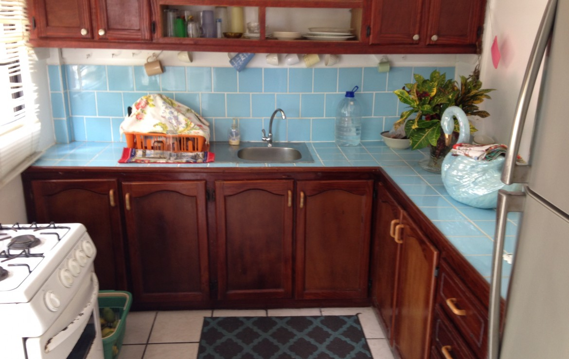 kitchen of house for sale in dennery st lucia