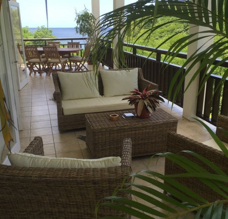marigot st lucia villa for sale varandah patio