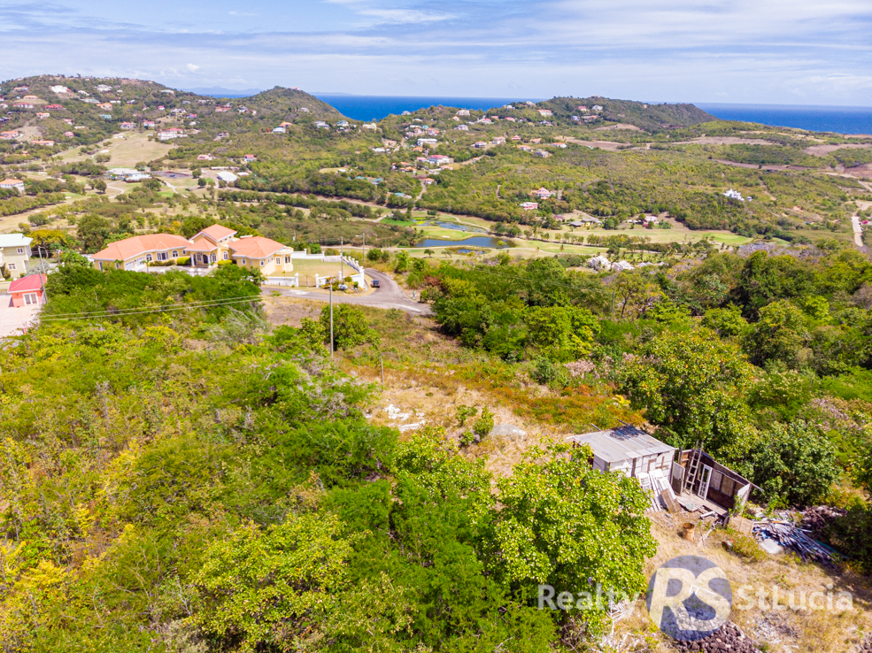 st lucia real estate for sale arial land view