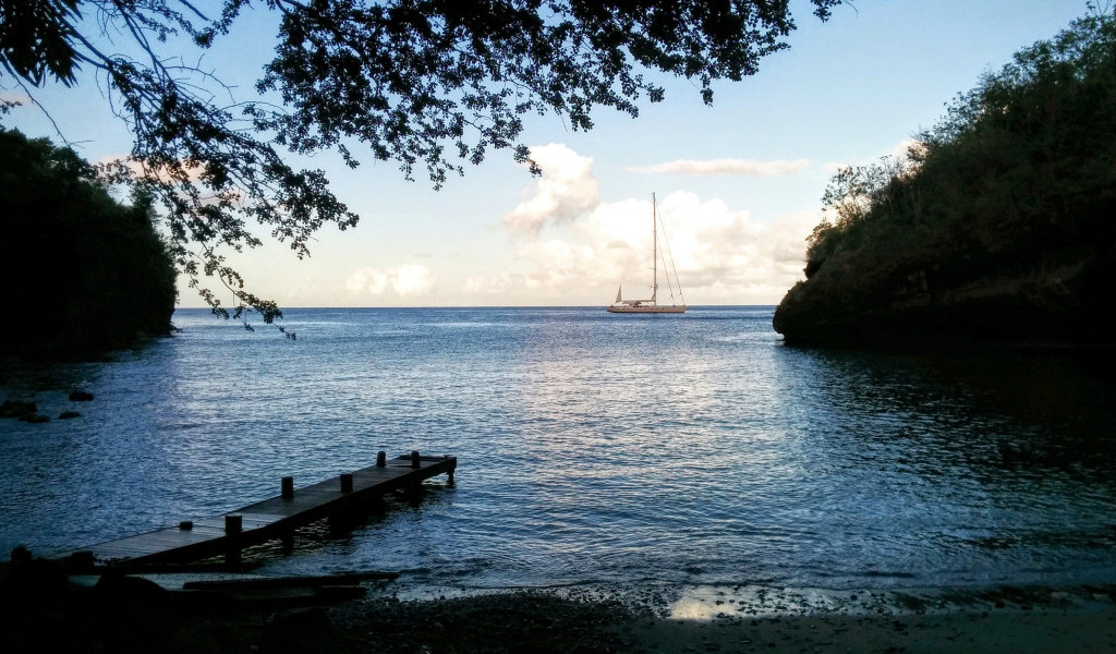st lucia marigot villa for sale night beach