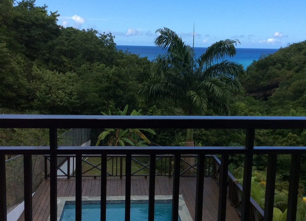marigot st lucia villa for sale balcony view