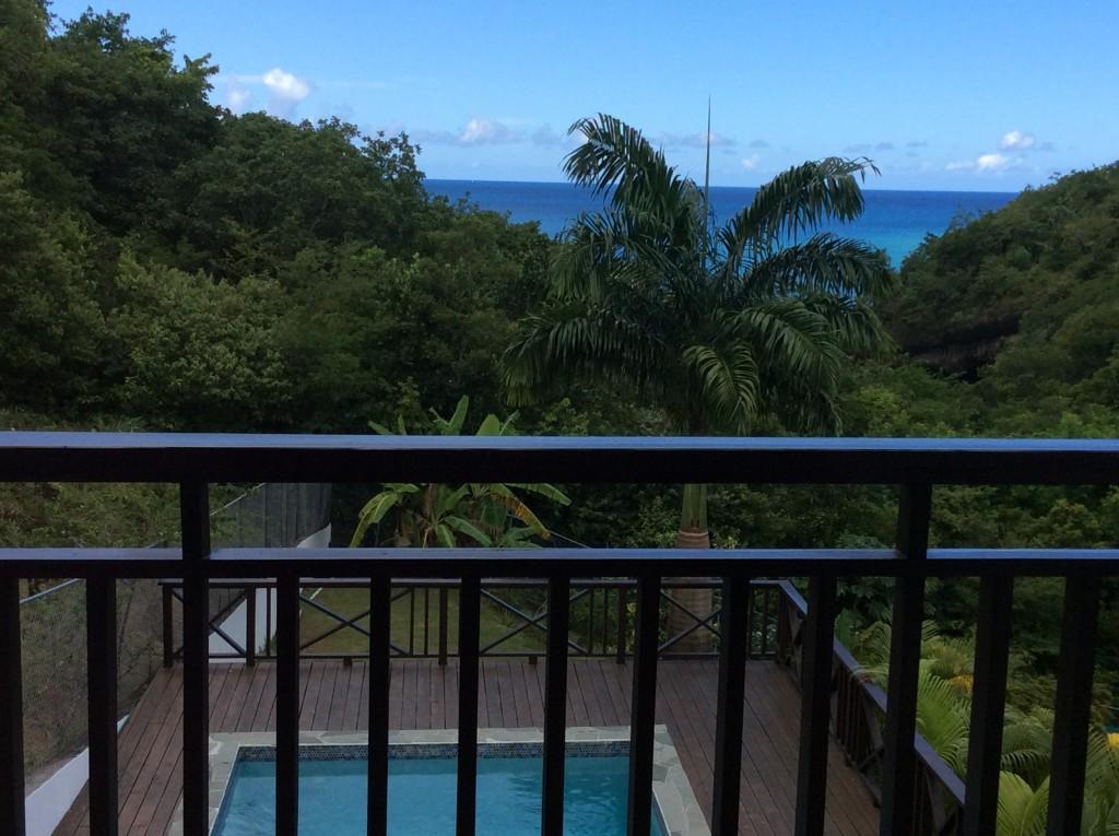 marigot st lucia villa for sale balcony view