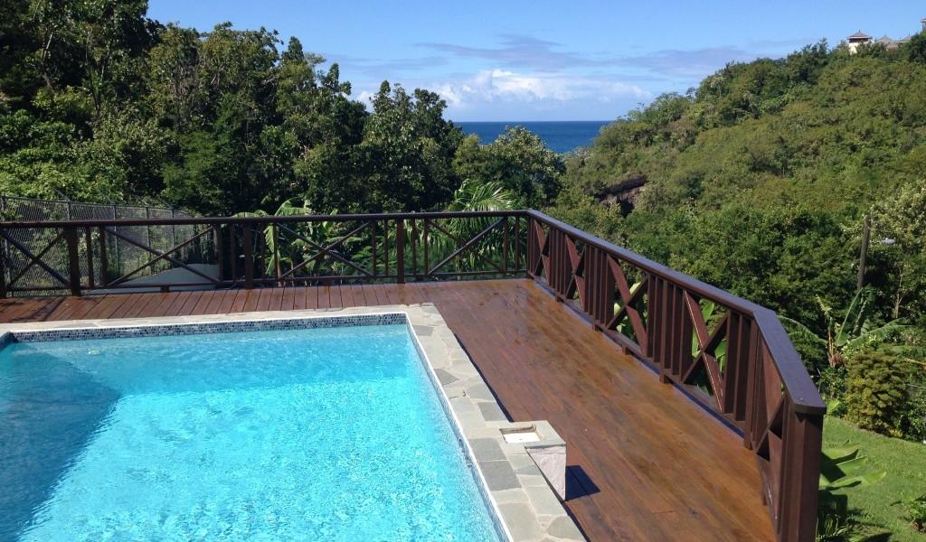 marigot st lucia villa for sale pool view