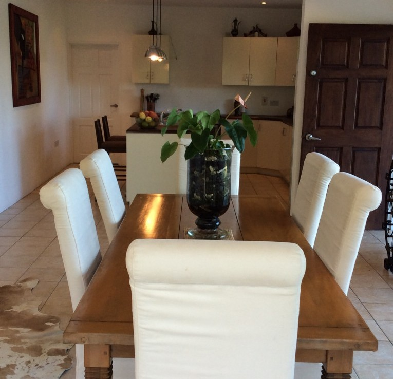 marigot st lucia villa for sale dining