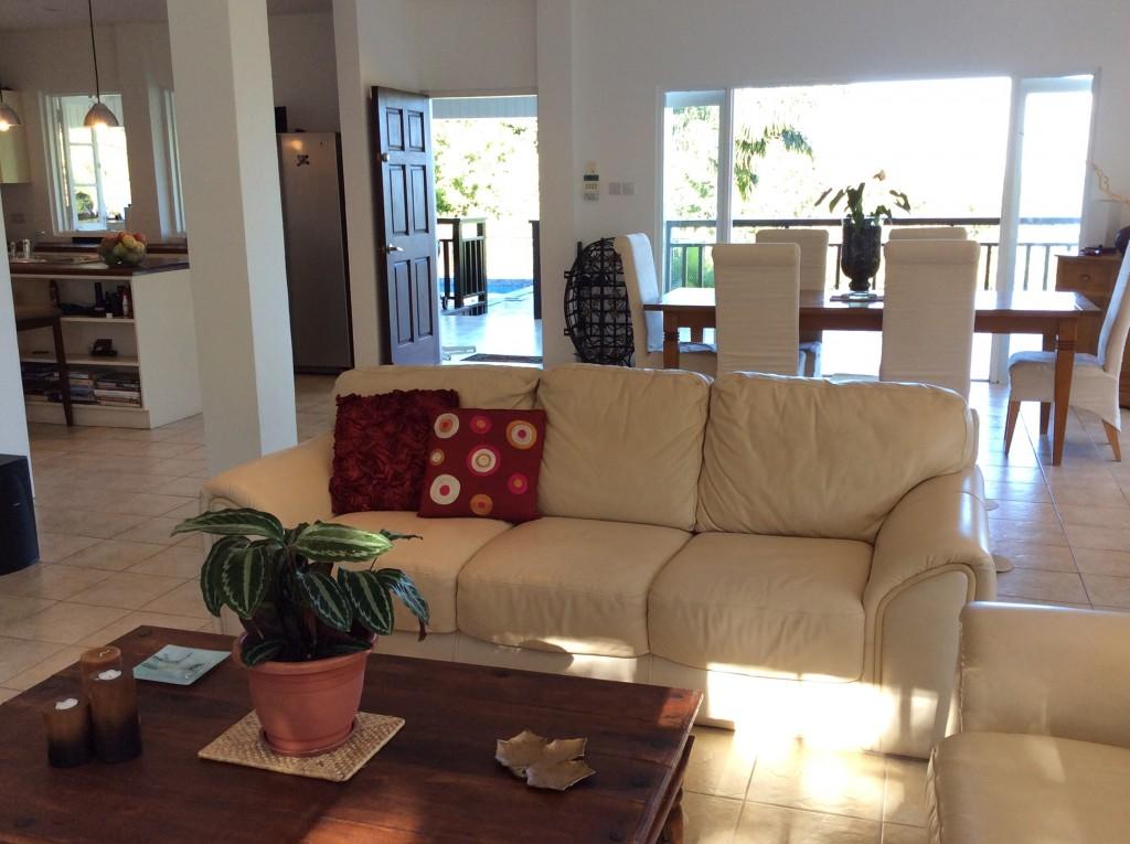 marigot st lucia villa for sale living room view