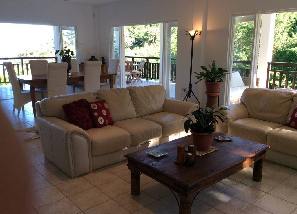 marigot st lucia villa for sale living room
