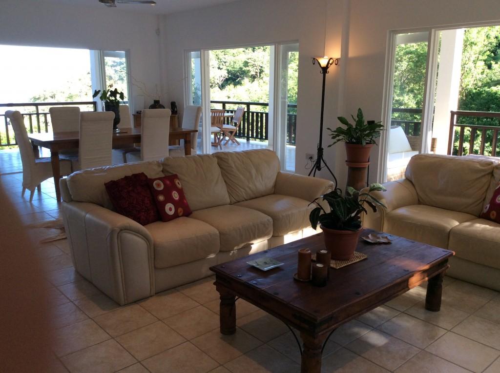 marigot st lucia villa for sale living room