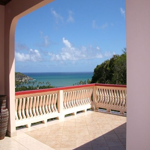 escap st lucia villa for sale view from balcony