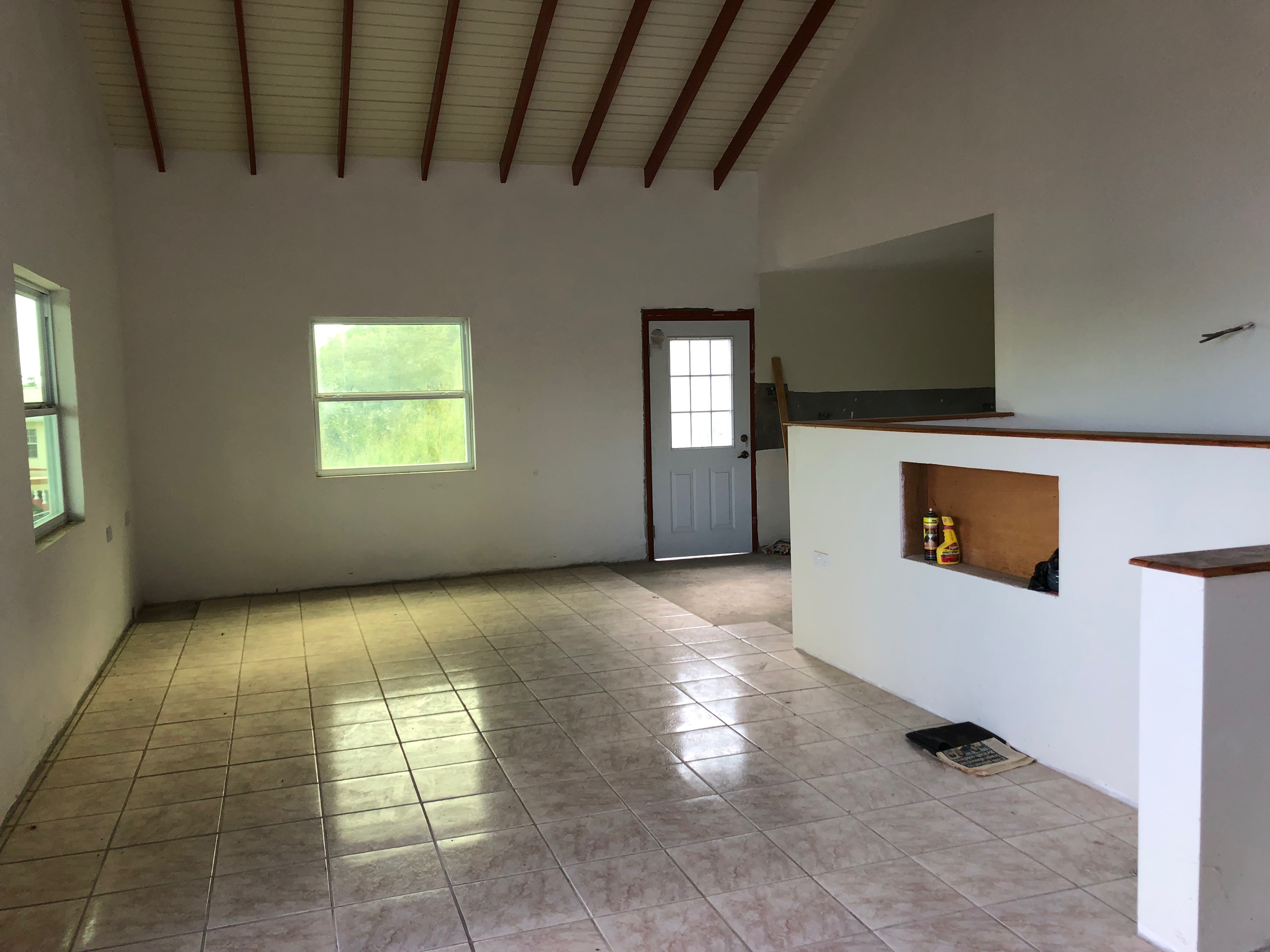 living room of house in laborie for sale