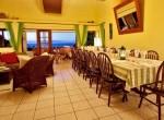 Capri dining room facing the Caribbean