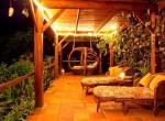 Capri hanging basket and side terrace