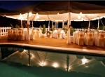 Villa Capri wedding dinner for 40 guests