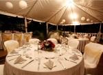 Villa Capri wedding dinner under tent