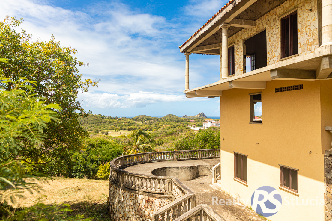 real estate for sale in st lucia unfinished house