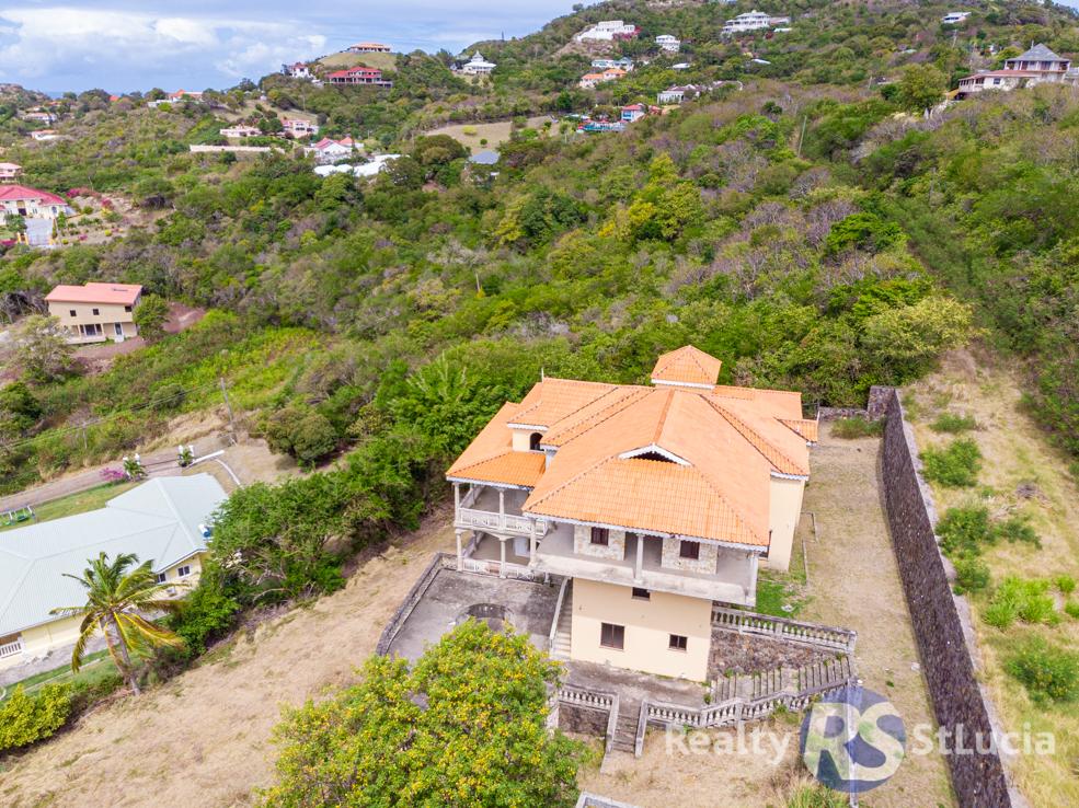 st lucia real estate for sale 7 bed villa