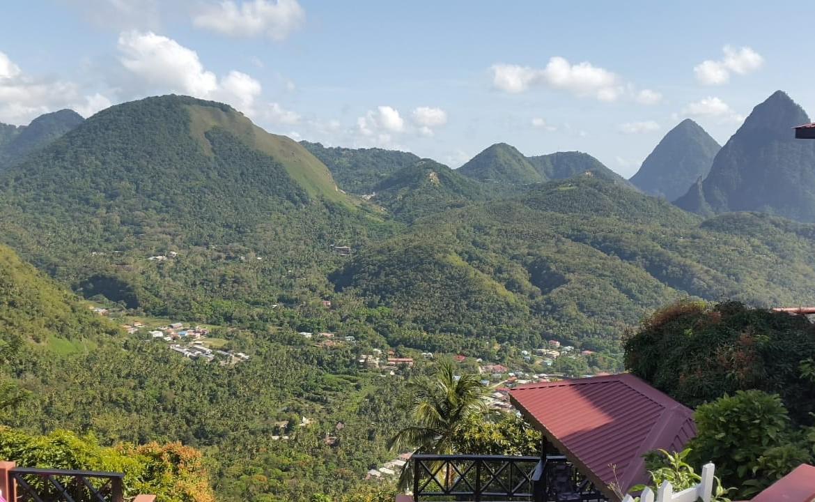 5975 sq ft Lot For Sale in Soufriere Overlooking Pitons