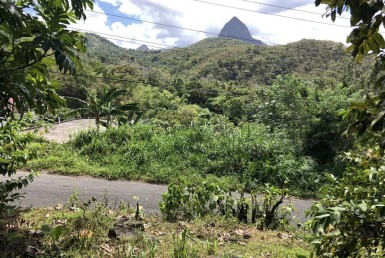 land for sale at creslands souffriere