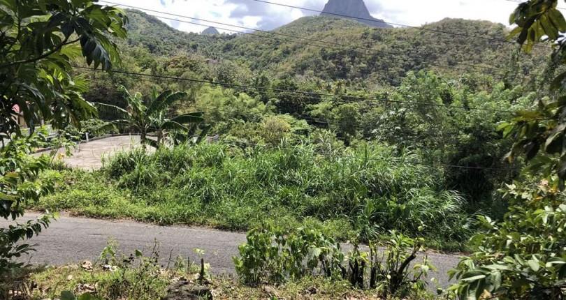 land for sale at creslands souffriere