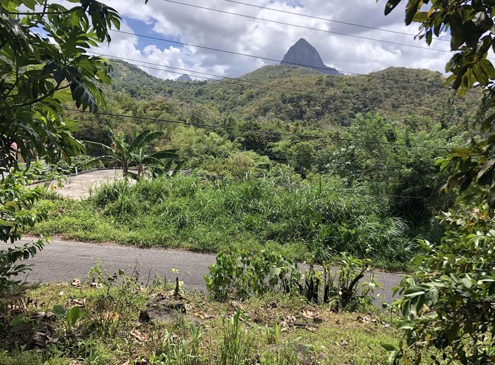houses and land for sale in soufreiere st lucia with piton view