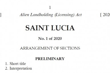 Alien Landholding (Licensing) Act. No 1 of 2020