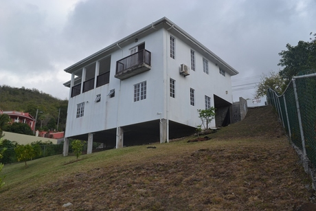 house for sale in beausejour st lucia yard1