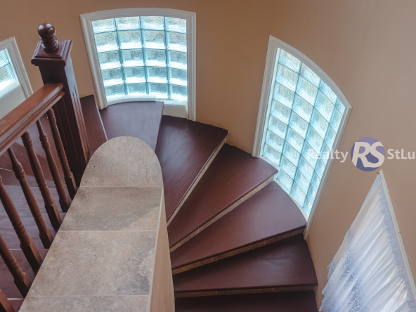 Houses For Sale In Saint. Lucia stairs