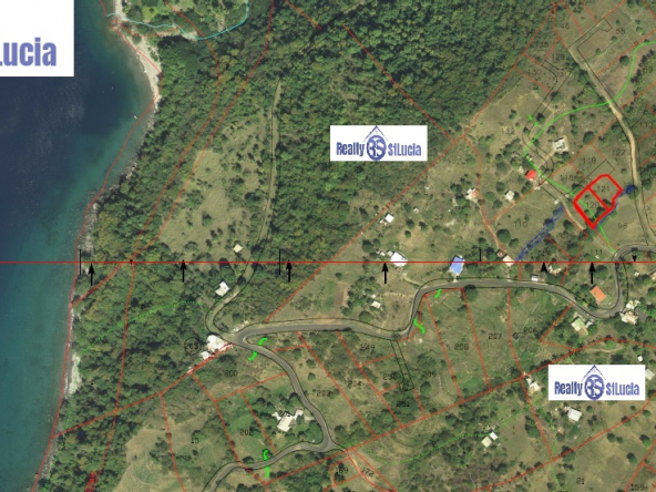 adjacent lots for sale in Choiseul St Lucia