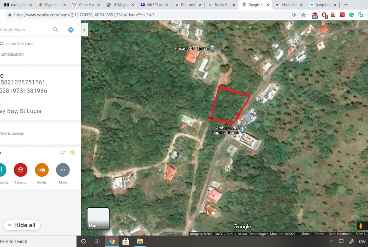 land for sale in st luci cacoa vieux fort